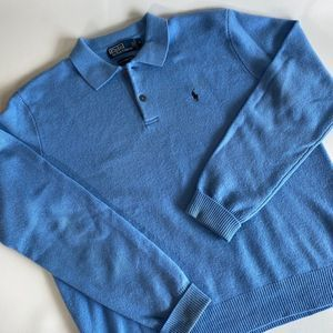 POLO BY RALPH LAUREN 100% LAMBSWOOL COLLAR SWEATER